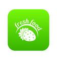 farm fresh food icon green vector image