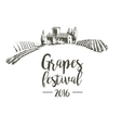 Grapes festival Lodge with vineyards vector image vector image