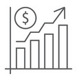 growth rate thin line icon finance and banking vector image vector image