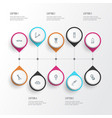 hairdresser icons line style set with shaving vector image