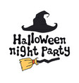 halloween night party halloween theme handdrawn vector image vector image