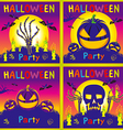 Happy Halloween card background Flat design kids vector image