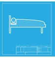 Hospital sign White section of icon vector image vector image