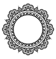 Indian Henna floral tattoo round pattern - Mehndi vector image vector image