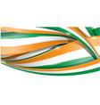 ireland horizontal background flag vector image