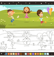 Kids Coloring Page vector image vector image