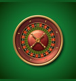 las vegas casino roulette wheel isolated vector image vector image