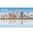 Las Vegas Skyline with Gray Buildings vector image vector image