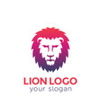 lion logo on white vector image vector image