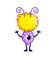 little cute monster in cartoon style vector image