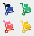 Luggage trolley icon Abstract Triangle vector image vector image