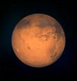 mars realistic planet vector image vector image