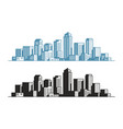 modern city symbol buildings skyscrapers vector image