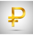 modern gold ruble icon on gray background vector image