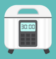 multicooker flat icon kitchen and appliance vector image