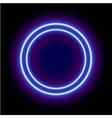 Neon abstract round vector image vector image