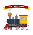Old vintage retro transportation train vector image