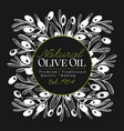 olive tree banner template vintage vector image vector image