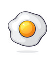 one fried egg symbol healthy food vector image