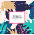organic collection social media banner vector image vector image
