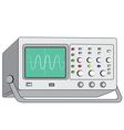 oscilloscopetest instrument vector image vector image