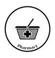 Pharmacy shopping cart icon vector image vector image