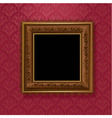 picture frame on vintage wallpaper vector image vector image