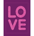 pink abstract flowers texture love text frame vector image vector image