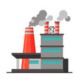 power plant or factory industrial building vector image vector image