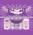 retro circus tickets vector image vector image