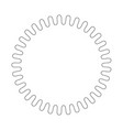 round decorative border frame with wavy line vector image vector image