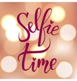 Selfie time Brush hand lettering vector image