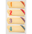 Set of retro cardboard paper banners with color vector image vector image