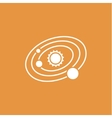 Solar system icon vector image