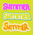 summer lettering summer sticker with handwritten vector image
