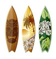 surfboards with design vector image