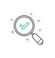 thin line good result icon vector image vector image