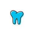 tooth dental icon graphic design template vector image vector image