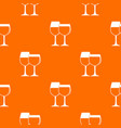 two glasses of wine pattern seamless vector image vector image