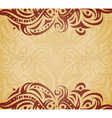 Vintage background with ornament vector image vector image