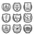 vintage justice emblems set vector image