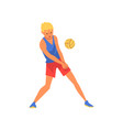 volleyball player wearing sports uniform male vector image vector image