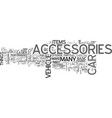 what types of auto accessories do you want text vector image vector image