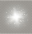white sparkling outburst vector image vector image