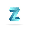 Z letter logo template Technical triangles style vector image vector image