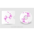 CD DVD Blu-ray white cover design template vector image