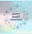 vintage christmas hand drawn card holiday happy vector image