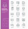Modern Line icon design Concept of Business Market vector image