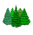 Set of christmas tree like fir or pine Blue vector image