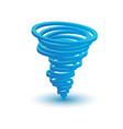 3d tornado symbol made circles vector image